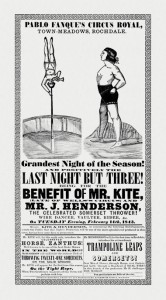 "Reproduction of poster which inspired ""Mr. Kite"" song."